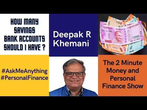 How many Savings Bank accounts should I have?