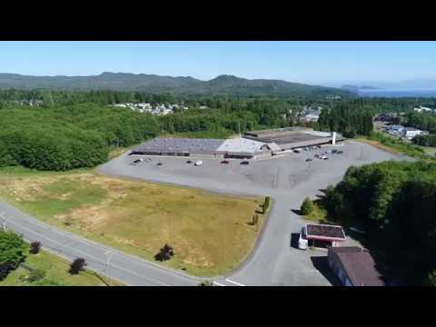 North Island Mall, Port Hardy, BC Drone Footage 1