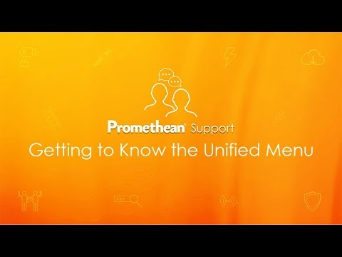 Getting to Know the Unified Menu