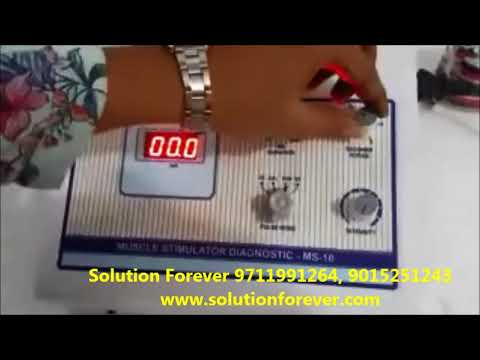 Muscle Stimulator 10 Manufactured By Solution Forever used In Physiotherapy