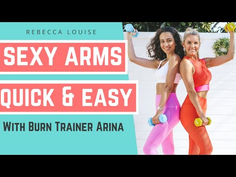 5-minute UPPER BODY With WEIGHTS Challenge For TONED ARMS | Rebecca Louise