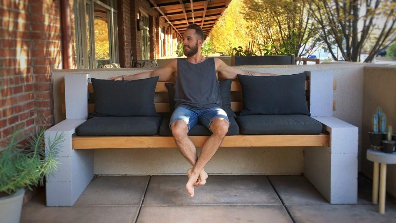 cheap lawn chair turkey lounger folding hunting cinder block bench - youtube