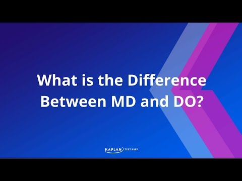 Kaplan MCAT - What is the difference between MD and DO?