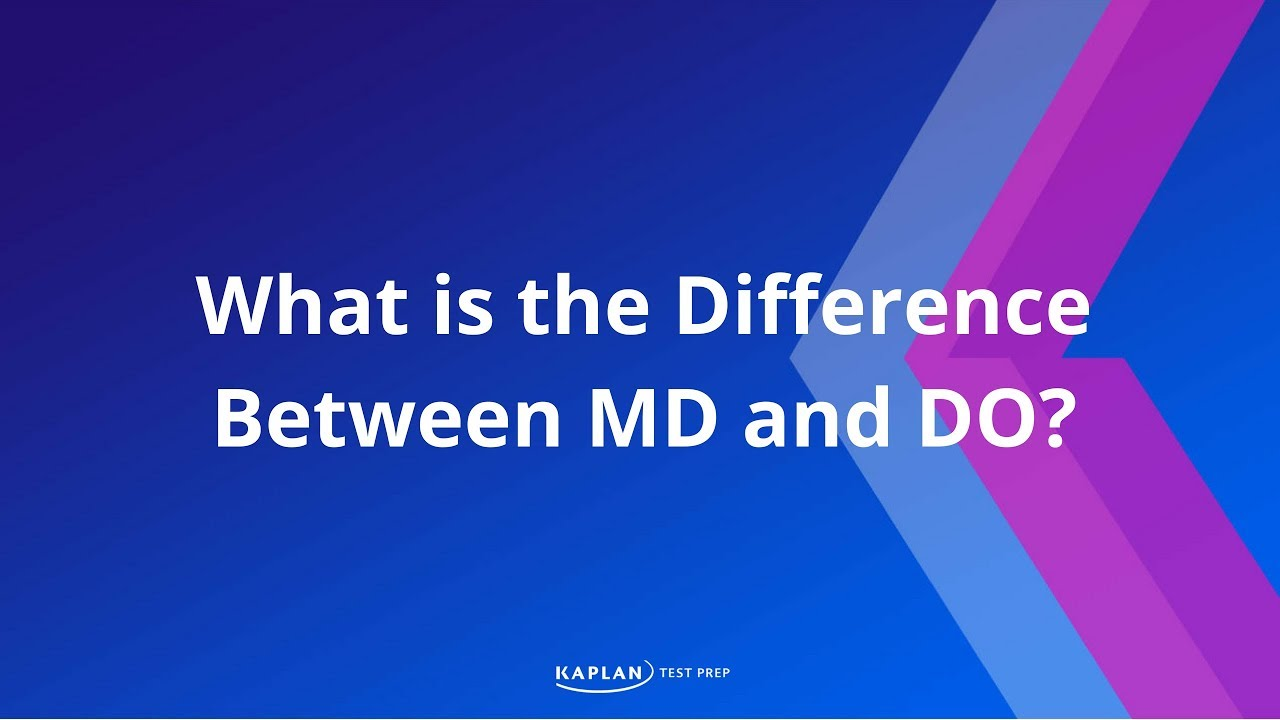 What is the Difference Between MD and DO? - YouTube