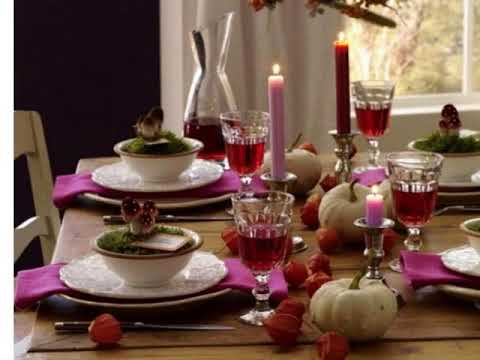 Simple Dining table decorating ideas