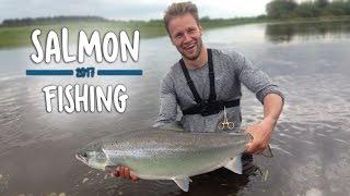 Download Video KÆMPE FED LAKS - Skjern Å | Salmon Fishing MP3 3GP MP4