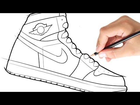 How to Draw a Shoe (Air Jordan 1)