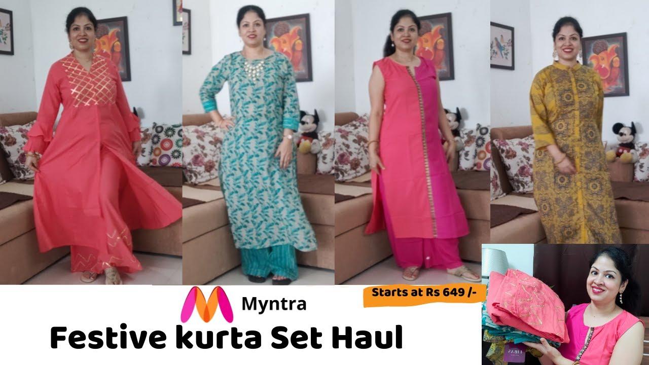 Myntra kurta Set Haul 2020 | Myntra Kurta Haul 2020 | Under 600 - 1000 | Rakshabandhan outfits