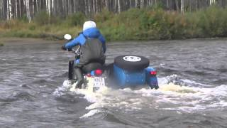 Ural Motorcycle River Crossing