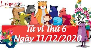Xem tử vi hàng ngày - Tử vi Thứ 6 ngày 11 tháng 12 năm 2020 của 12 con giáp