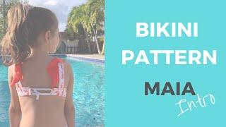 Kids Bikini Patterns Top And Bottom MAIA Intro By Bikini Design Club