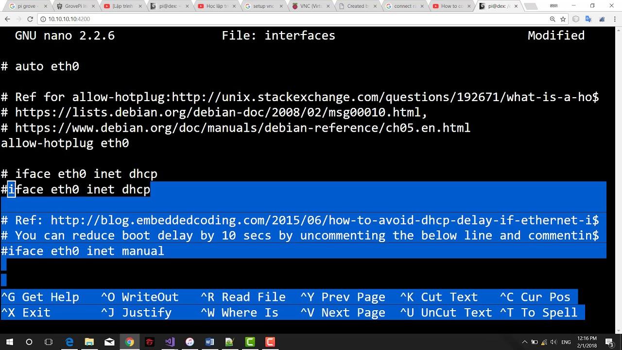 [Lập trình nhúng với Raspberry Pi và linux] Kết nối Raspberry Pi và laptop qua cổng mạng LAN