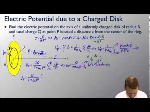 AP Physics C - Electric Potential of Charge Distributions