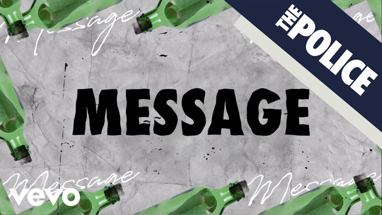 The Police - Message In A Bottle (Lyric Video)