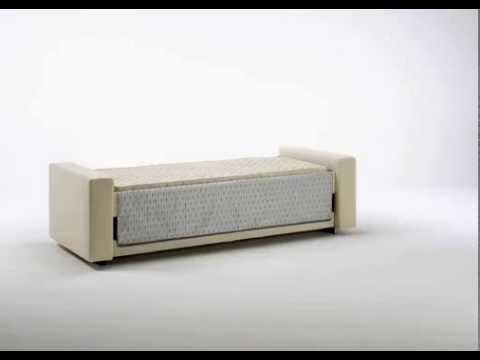 Bk divani divano con letto girevole singolo youtube - Divano letto singolo girevole ...