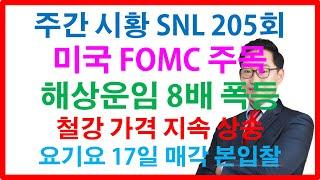 주식투자 주간시황 SNL 205회 미국FOMC 테이퍼링…