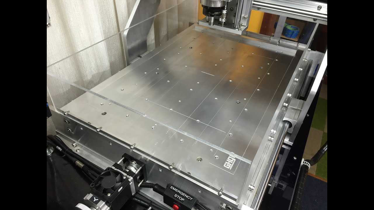 Updating My Cnc Router With Solid Plate Aluminium Bed