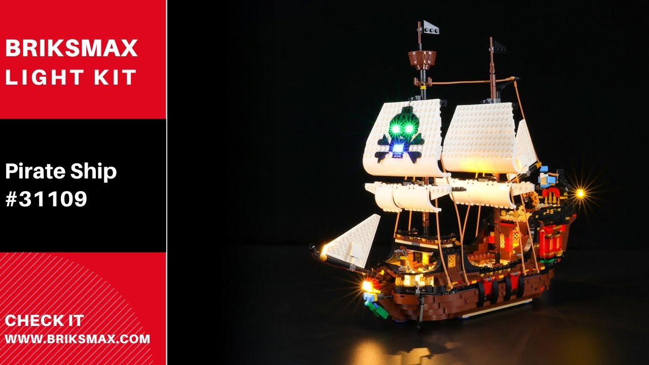 Lego Set not Included brickled LED Lighting Kit for Lego Pirate Ship 31109 Creator 3-in-1