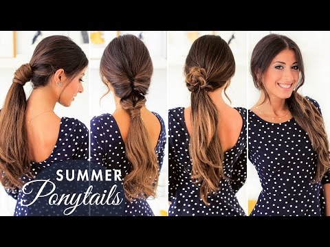 Cute Summer Ponytails | Luxy Hair