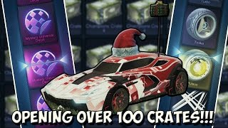SO MANY MYSTERY UNIVERSAL DECALS & PAINTED EXOTIC WHEELS! | LUCKY Rocket League 100+ Crate Opening!