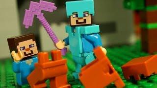НУБ против КОРОВЫ Мультфильм Лего Майнкрафт Лаки Блоки Троллинг Мультики Lego Minecraft Animation