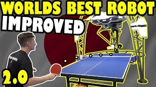 World's Best Table Tennis Robot vs TableTennisDaily's Dan 2