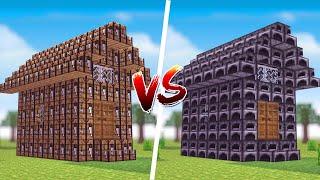 Minecraft: CASA DE CRAFT TABLE VS. CASA DE FORNALHA ‹ JUAUM ›