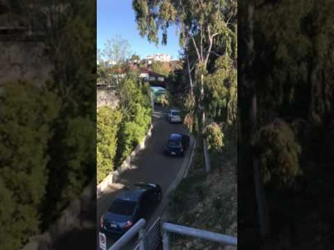 LaCuesta Drive In Los Angeles Where Street Signs Cause Traffic Back-Up