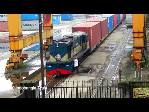 Biggest Freight Train of Bangladesh Railway Departing Kamalapur Station, Dhaka