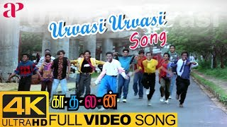 Urvasi Urvasi Full Video Song 4K | Kadhalan Songs | Prabhu Deva | AR Rahman | Shankar