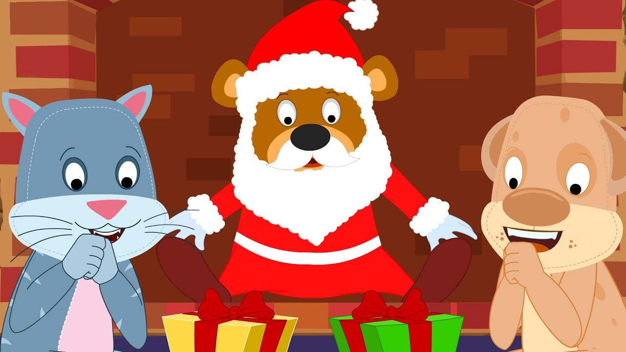 Santa Coming Down the Chimney | Kids Song | Christmas ...