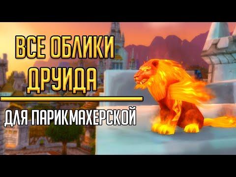 ПОЛУЧЕНИЕ ВСЕХ ОБЛИКОВ в парикмахерскую для друида в World of Warcraft! Кастомизация обликов друида