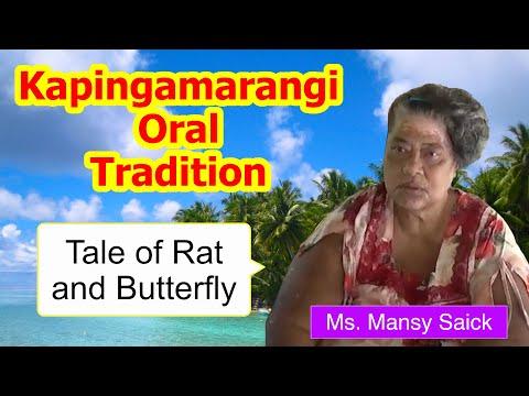 Tale of rat and butterfly, Kapingamarangi Atoll