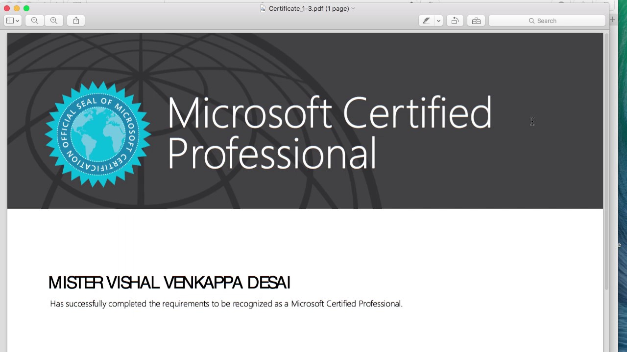 Vishal Mcp Certification Youtube