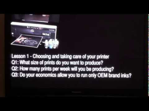 Inkjet Printing Masterclass: Lesson 1 - Choosing and taking
