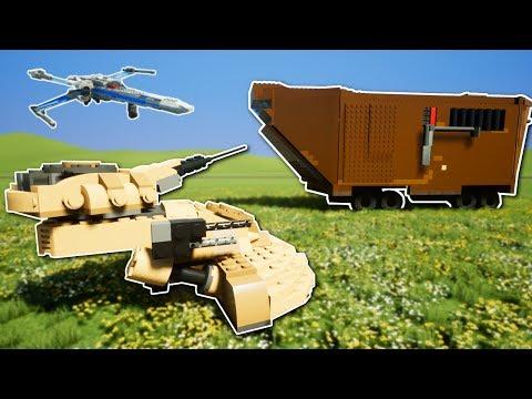 LEGO STAR WARS BATTLE!? - Brick Rigs Multiplayer Gameplay - Capture the Sandcrawler Challenge!