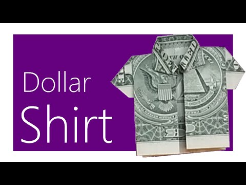 Dollar Shirt Origami Tutorial