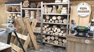 Jak zrobiłem stojak do ciecia drewna i przygotowałem drewno do toczenia   Toczenie w drewnie #11
