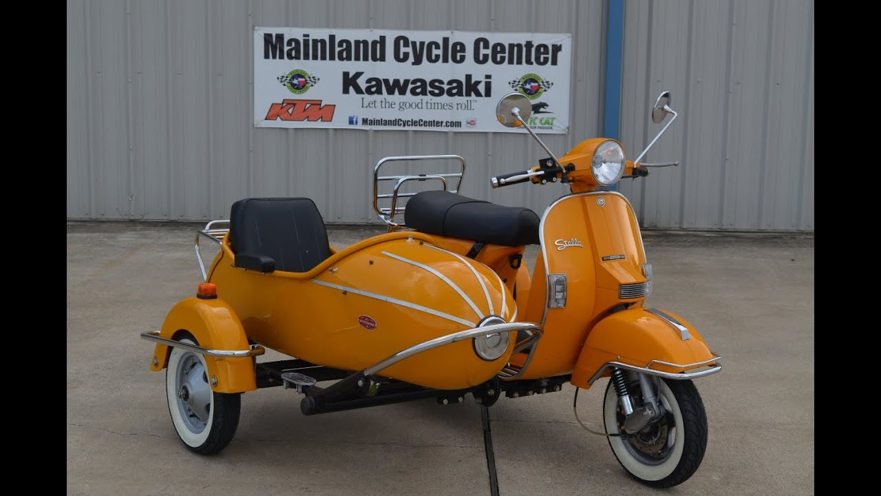 $5,999: For Sale Pre Owned 2013 Stella Scooter with Sidecar Dijon Yellow