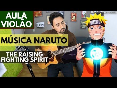 The Raising Fighting Spirit (Naruto) - Aula Violao Fingerstyle Simplificada
