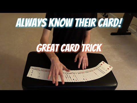Know Their Card EVERY TIME! Awesome Card Trick Performance/Tutorial thumbnail