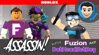 Roblox Assassin with Fuzion and DatHeadSetBoy!!