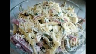 Рецепт салата с консервированными кальмарами и кукурузой