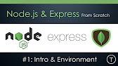 Node.js & Express From Scratch - YouTube
