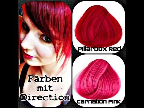 Färben mit Direction / Pillarbox Red + Carnation Pink