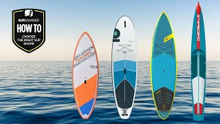How To Choose Tнe Right Board / Understanding SUP Shapes