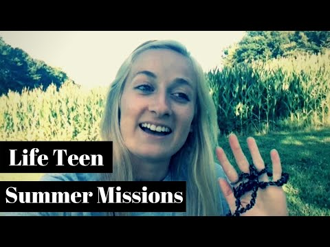 God nods from summer missions with Life Teen (To my mission partners)
