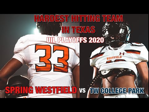 The hardest hitting team in TEXAS ?! 💥 Spring Westfield vs TW College Park TXHSFB Playoff Edition