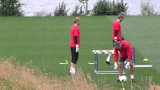 MANCHESTER UNITED GOAL KEEPERS PRACTICING IN RENTON WA USA. www.uninube.com