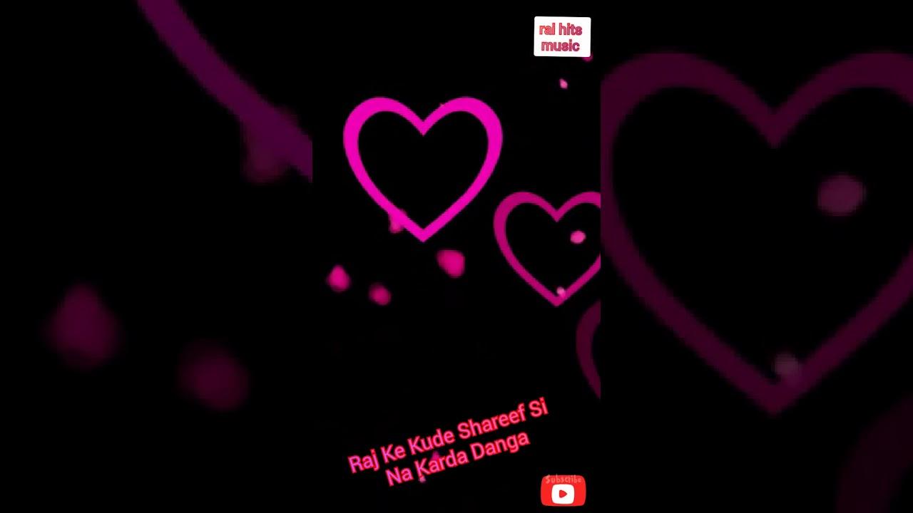 New punjabi song lyrics WhatsApp status black background ...